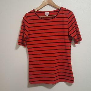 Lularoe Gigi red and black stripe
